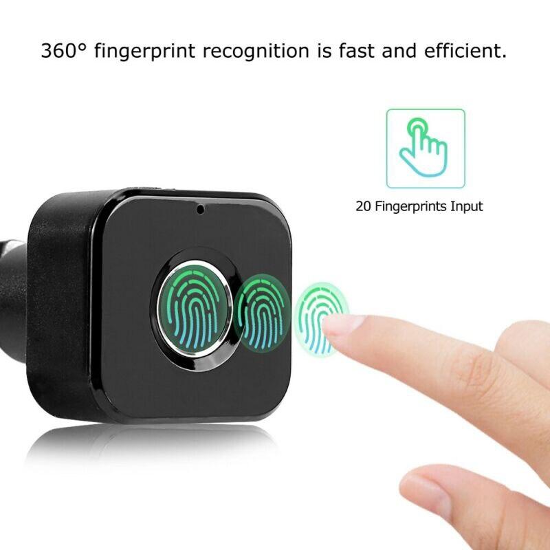 Smart Door Security Fingerprint Lock Biometrics Cabinet Drawer Filing USB Black