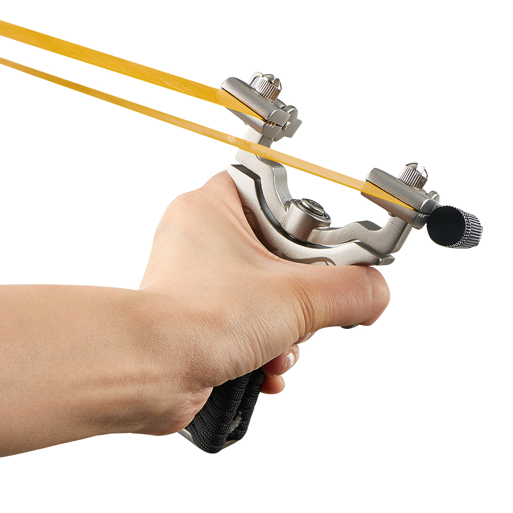 Professional slingshot Catapult 360 degree with Flat Rubber Band Hunting Shooting Slingshot Laser Aiming Slingshot
