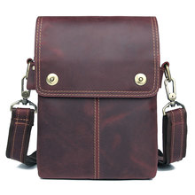 JMD Genuine Leather Messenger Bags Mens Small Sling Bag Man Daily Purse 1006C