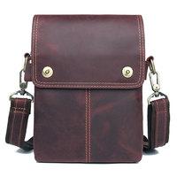 Genuine Leather Messenger Bags Men's Small Sling Bag Man Shoulder Bag Daily Purse J.M.D Brand 1006X