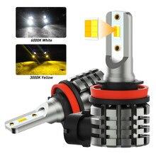OXILAM 2X H11 H8 lampadine a LED per auto lampadina a doppio colore per fendinebbia per Chevrolet Cruze Camaro Sonic Spark Equinox 2013-2015