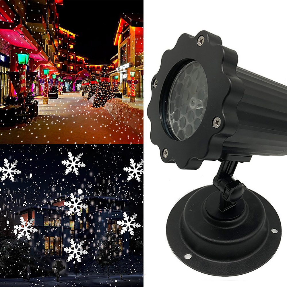 Halloween Christmas Outdoor Waterproof LED Stage Lights Laser Light Projector Light Snowflake Dj Disco Light For Home Decoration