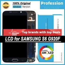 100% original 5.1 amamamoled display para samsung galaxy s6 g920 SM-G920F g920f lcd touch screen peças de reparo + serviço pacote