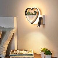 Luminária moderna de parede led  decorativa  para sala de estar  para quarto  para corredor  varanda  para entrada  para sua casa  arte  para plantas