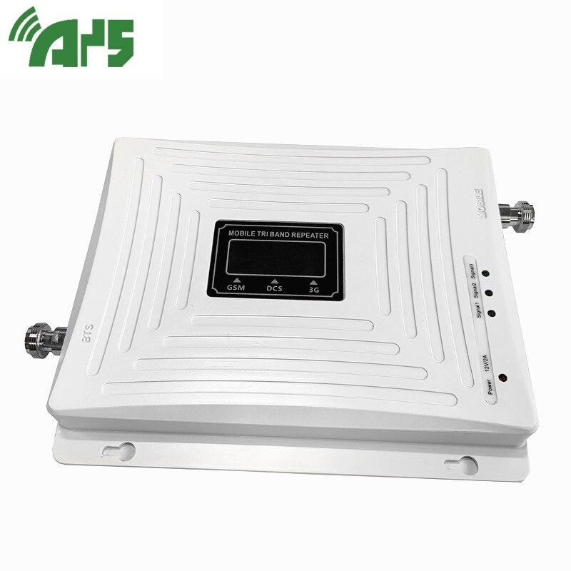 Amplificador de señal de teléfono celular de banda Triple 2G 3G 4G GSM 900 LTE 1800 WCDMA 2100 mhz, conjunto de cubierta de antena de repetidor de señal móvil - 3