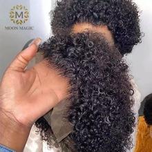 Fryzura Pixie peruka ludzkie włosy krótkie kręcone wstępnie oskubane bielone węzłów peruki Bob peruka koronki przodu peruki z ludzkich włosów 13 #215 4 koronkowe przednie tanie tanio moonmagic BR (pochodzenie) Remy włosy Ludzki włos Pół maszyny wykonane i pół ręcznie wiązanej Wszystkie kolory Swiss koronki