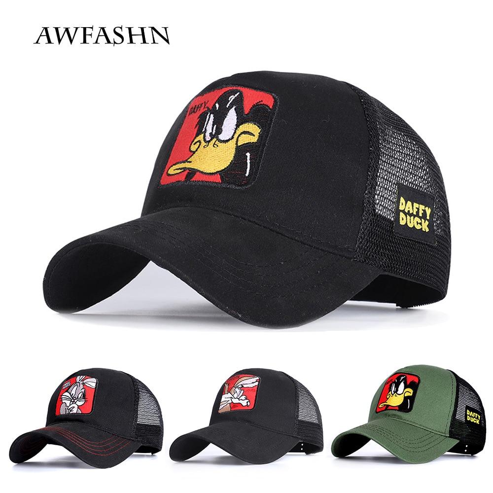 2020 Cartoon Baseball Cap Unisex Animal Embroidery Mesh Baseball Cap Breathable Shade High Quality Sports Hat Casual Fashion New