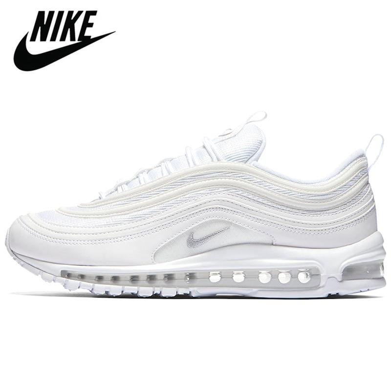 Оригинальные оригинальные туфли унисекс Nike Air Max 97, черные, унисекс, размер 36-45
