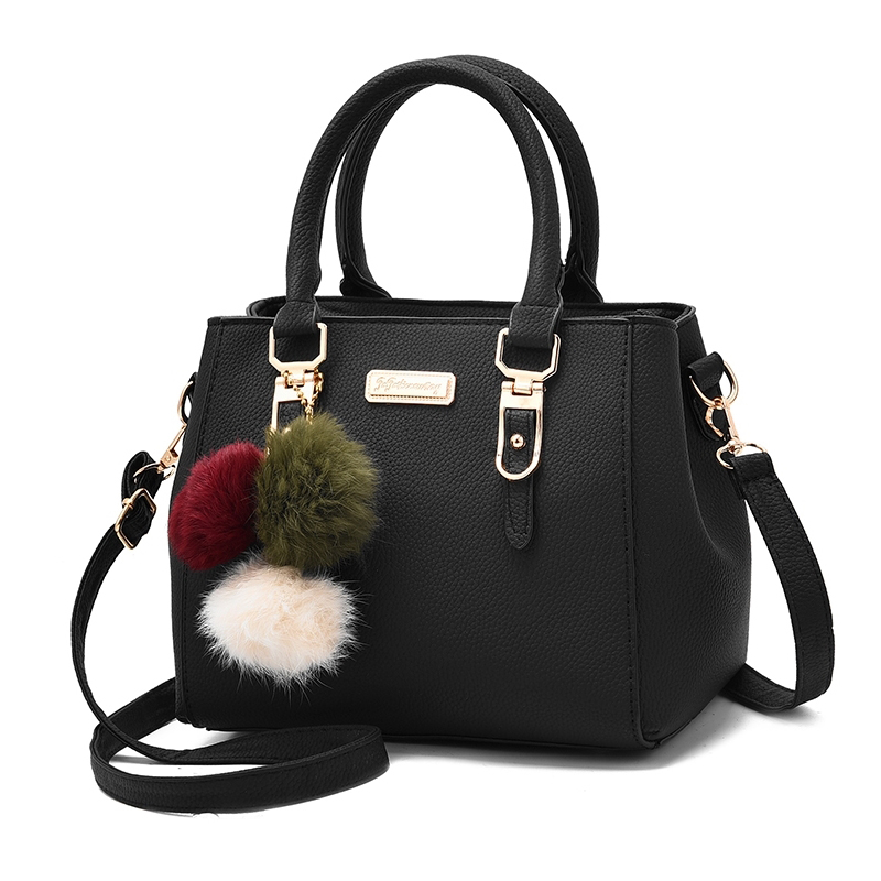 2019 Hairball Ornaments Totes Solid Sequined Women Handbag Hot Sale Party Purse Ladies Messenger Zipper Crossbody Shoulder Bags
