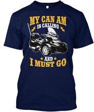 Camiseta popular da camiseta do tagless da lata am está chamando e eu devo ir