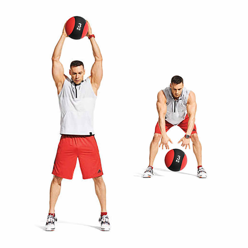 6KG Crossfit Wall Ball Empty Lifting Heavy Duty Exercise Kettlebell Fitness