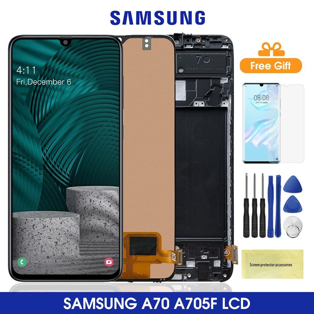 6,7 ''A705 ЖК-дисплей для Samsung Galaxy A70 2019 ЖК-дисплей сенсорный экран дигитайзер в сборе для Samsung A705 A705F SM-A705F A705DS