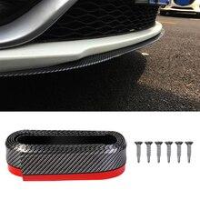 2,5 m Auto Stoßstange Protektoren Splitter Körper Kits Spoiler Stoßfänger Auto Tür Stoßstange Carbon Faser Gummi Lip 65mm Breite streifen