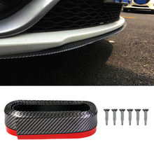 2.5m carro pára choques protetores splitter corpo kits spoiler pára choques porta do carro pára choques de borracha fibra carbono lábio 65mm largura tira
