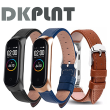 Colorful Leather Black Rose Gold Case Smart Watch band for Xiaomi Mi Band 4/3/5 strap For xiaomi mi band 5/4/3 bracelet strap