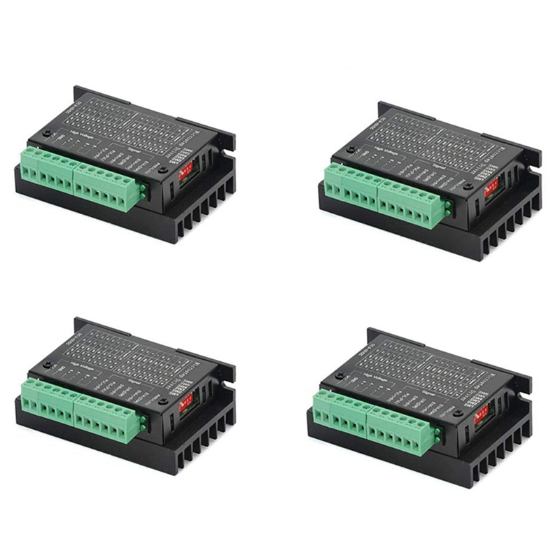 ABSF 4 Pack TB6600 4A 9-42V Stepper Motor Driver CNC Controller, Stepper Motor Driver Nema Tb6600 Single Axes Two Phase Hybrid S