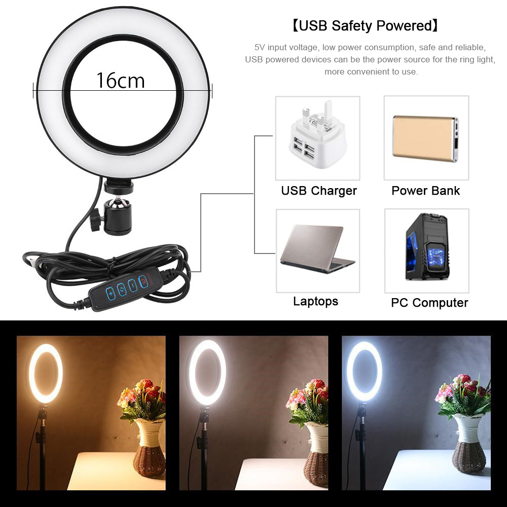 cheapest LED Live Fill Light Phone Camera Beauty Photography Light Phones Photo Lighting Exterior Video Handheld Portable Macro Shooting