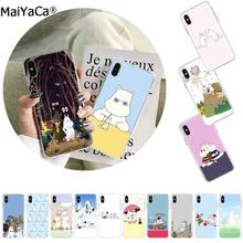 MaiYaCa Hippo moomin Cute animal cartoon Black Phone Case Cover for Apple iphone 11 pro 8 7 66S Plus X XS MAX 5S SE XR(China)
