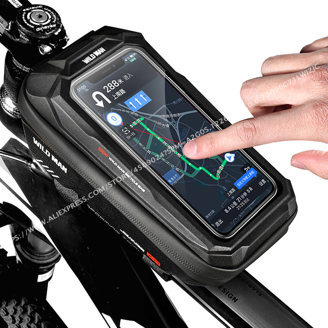 Фото сумка на велосипед wild man водонепроницаемая сумка для телефона