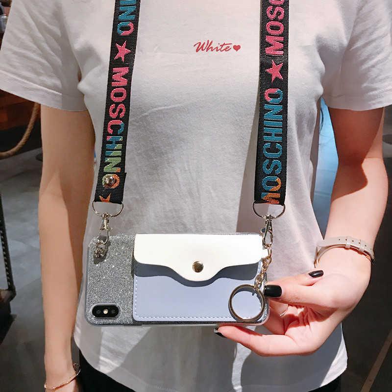 Cinturino da polso Cassa Del Raccoglitore Per Oppo A5 K1 R15X A83 A77 F5 A73 F7 A3S A51 Morrtr5 A53 A7 A71 f3 a1Lanyard Copertura