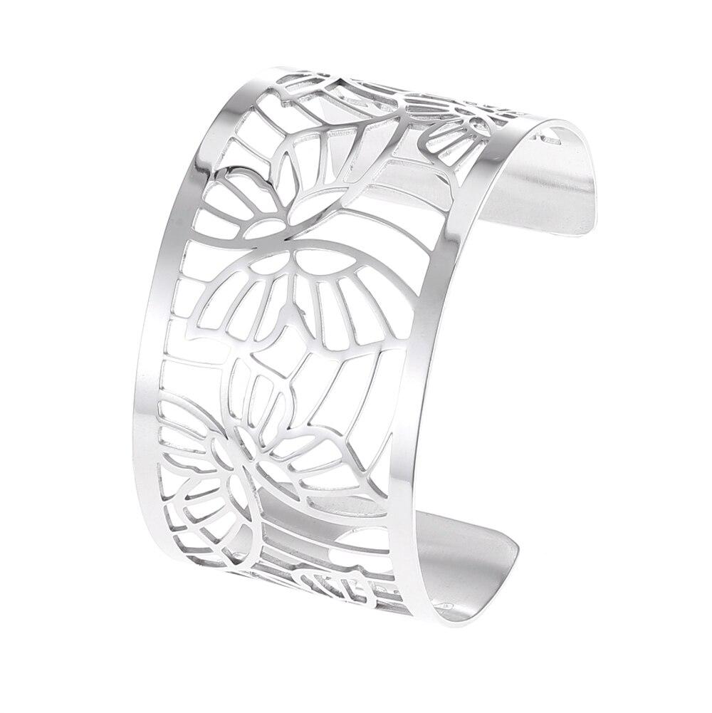Cremo Bangles For Women Giraffe Stainless Steel Cuff Bracelets & Manchette Femme Eternal Argent Pulseiras