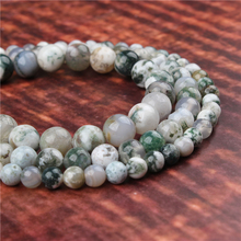 Fashion jewelry 4/6/8/10/12mm Tree Grain Agate, suitable for making jewelry DIY bracelet necklace