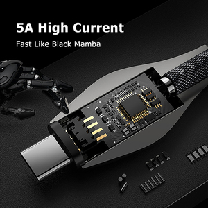 Image 4 - Benks 5A USB סוג C כבל טעינה מהירה עבור Huawei Mate 30 20 P30 P20 פרו סמסונג S9 S10 עבור שיאו mi mi 8 USB C מטען נתונים כבל