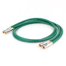 Alta fidelidade de áudio mcintosh 2328 4n cobre rca interconectar cabo de áudio fio com pailicce banhado a ouro plugues rca ao cabo de extensão rca