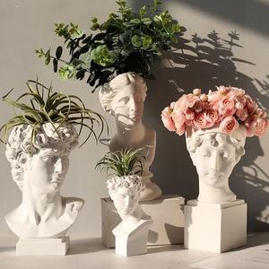 Image 1 - Neue Silikon Beton Form für Skulptur Blume Topf Machen Form Nordic Original Ornamente