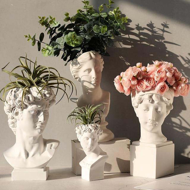 Neue Silikon Beton Form für Skulptur Blume Topf Machen Form Nordic Original Ornamente