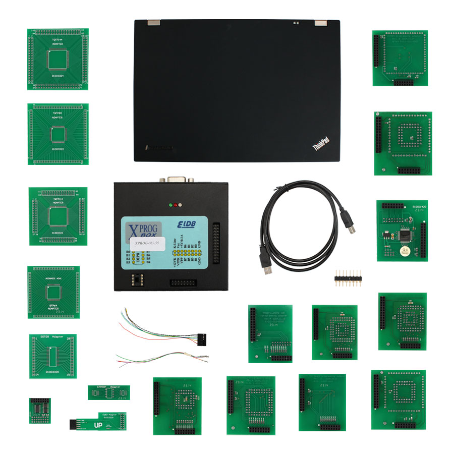 Newest <font><b>XPROG</b></font>-<font><b>M</b></font> V5.5.5 X-PROG <font><b>M</b></font> BOX V5.55 ECU Programmer Get T420 Laptop +500GB HDD USB Dongle Especially for BMW CAS4 Decryption image