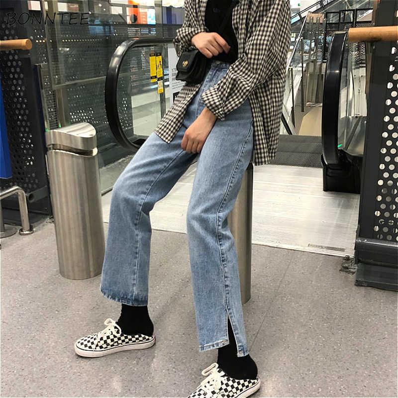 Vaqueros Rectos Para Mujer Estilo Vintage Harajuku Sencillos Faciles De Combinar Con Estilo Bf Pantalones Vaqueros Elegantes De Calle Para Mujer Pantalones Blanqueados De Cintura Alta Con Bolsillos Pantalones Vaqueros Aliexpress