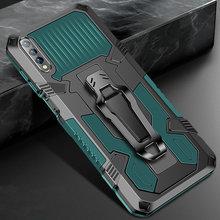 Custodia antiurto per Huawei Y8P Y6 Y5 Lite Y9 Y7 Prime 2019 2018 Cover per armatura con Clip da cintura per Huawei Y6P Y8P Y9S Y6S Y5P Y8S Y7P