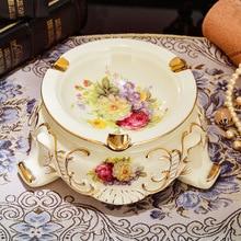 New ceramic ashtray E021 luxury household European style creative high-end fashion personalized gift