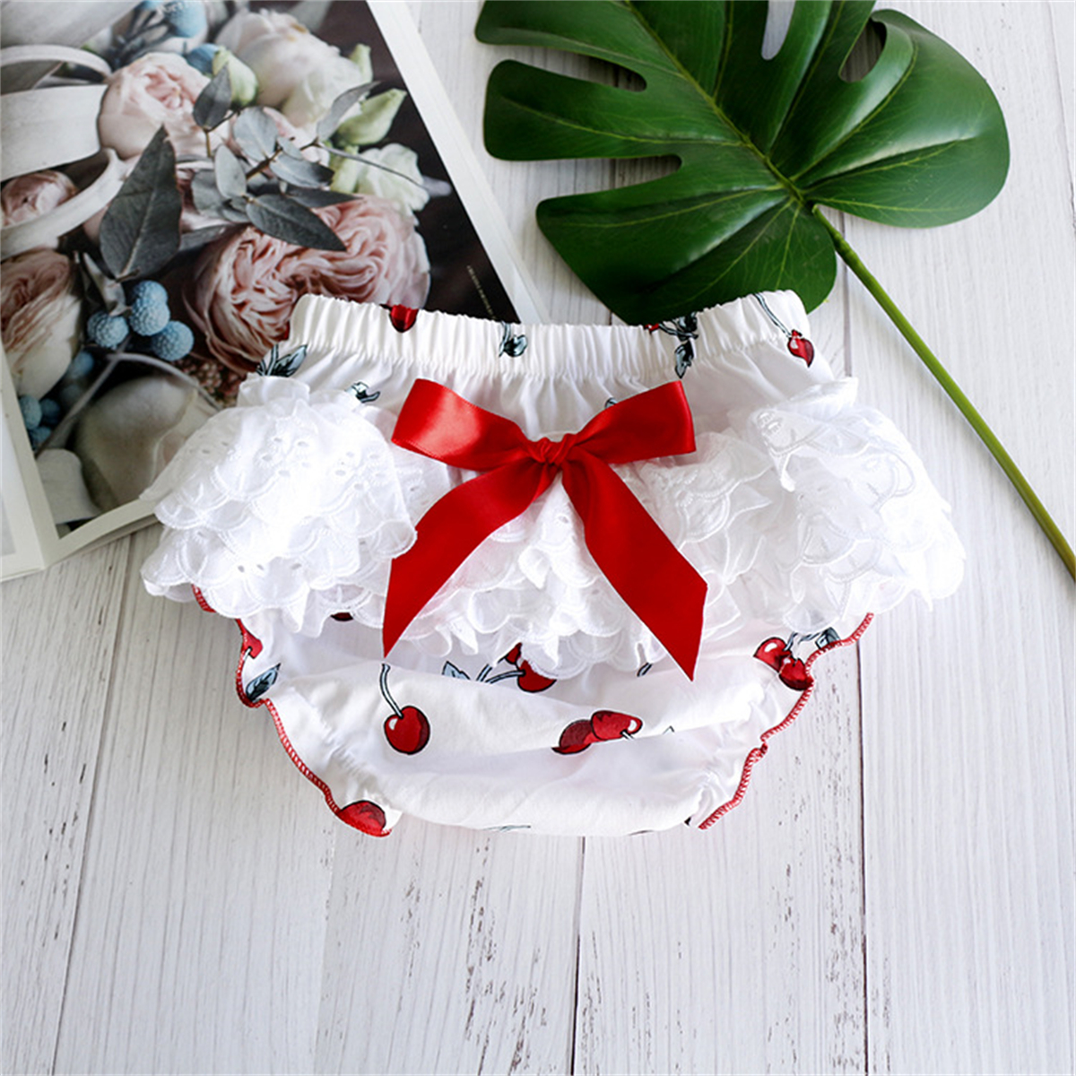 Baby Girls Shorts Baby Bloomers Summer 2-Pieces Headband Shorts Set Chic Floral Printed Clothes Newborn Bloomers Infant PP Pants