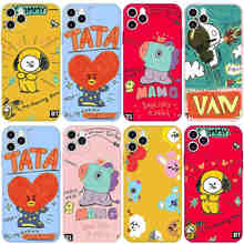 KPOP lindo BT21 para iPhone 12 Por Mini para iPhone 11 Pro caso para iPhone SE 2020 6 8 S 6 7 Plus X XS X Max XR suave Funda de silicona