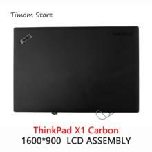 Para lenovo thinkpad x1 montagem superior de toque carbono a & b capa hd + 1600*900 14.0 polegada novo notebook metade superior conjunto montagem monitor