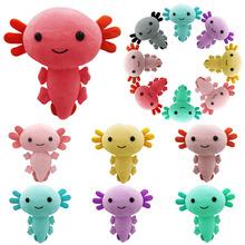 Najnowszy Cartoon pluszowe Axolotl pluszowe zabawki Kawaii zwierząt Axolotl pluszaki figurka lalka zabawka Cartoon różowy Axolotl wypchana lalka prezenty tanie tanio CN (pochodzenie) Tv movie postaci W wieku 0-6m 7-12m 13-24m 25-36m 4-6y 7-12y Genius Lalka pluszowa nano Miękkie i pluszowe