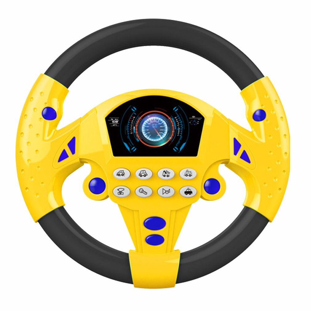 Electric Toy Musical Instruments For Kids Baby Steering Wheel Musical Developing Educational Toys Game Climbing Frame