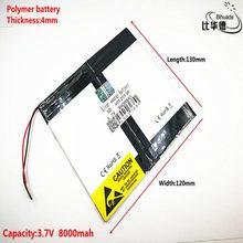 Litro bateria de energia Bom Qulity 3.7 V, 8000mAH 40120130 bateria De Polímero de iões de lítio/BANCO de bateria Li-ion para tablet pc, GPS, mp3, mp4