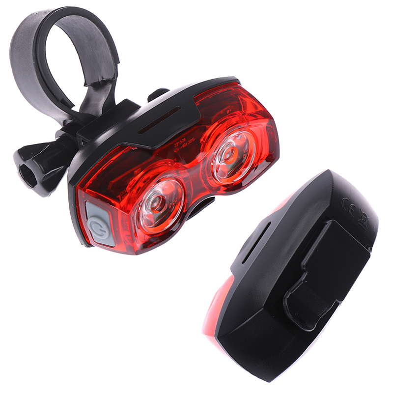 Safety Warning Headlight LED Bicycle Taillight 1000 M Cycling Light Moutain Road Bike Rear Saddle Lamp 3 Models