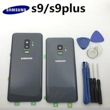 Reemplazo Original de la cubierta de la puerta trasera del cristal de la batería del Panel trasero para Samsung Galaxy s9 + Edge Plus G960 G960F G965 G965F + herramienta