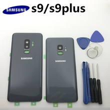 Yedek orijinal arka Panel pil cam arka kapı kapak Samsung Galaxy s9 + kenar artı G960 G960F G965 G965F + aracı