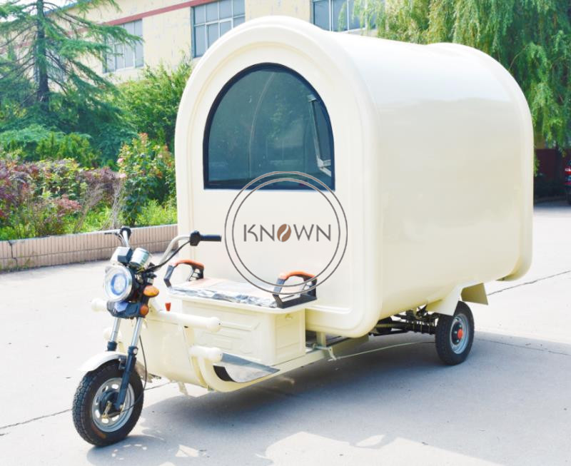 New Design Three Wheels 220cm Long Food Trailer Food Kiosk Mobile Food Cart Electric Food Truck For Sale