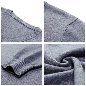 Image 5 - COODRONY Brand Sweater Men Autumn Winter Thick Warm Pull Homme Classic Casual V Neck Pullover Men Cashmere Woolen Knitwear 91110