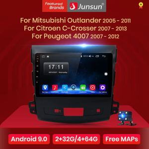 Junsun V1 Android 9.0 2G+32G 4G Car Radio Multimedia Player Navigation GPS For Mitsubishi Outlander xl 2 2005-2011 4007 no 2din(China)
