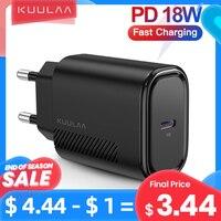 KUULAA-cargador USB tipo C para móvil, cargador rápido de 18W, QC 4,0, para Xiaomi Remi Note 9, 8, 7, iPhone 11 Pro, Max, XS, XR