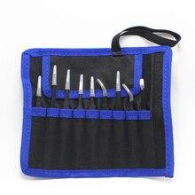 9 pz/set ESD Anti Static Pinzette In Acciaio Inox Set Kit Con Borsa Per Elettronica Dei Monili di Precisione Strumenti di Riparazione