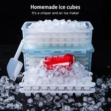 2020 ice grid silicone ice box f r o z e n ice cube mold with lid home ice artifact refrigerator quick freezer 2 Pack taylor n ice age level 1 cd