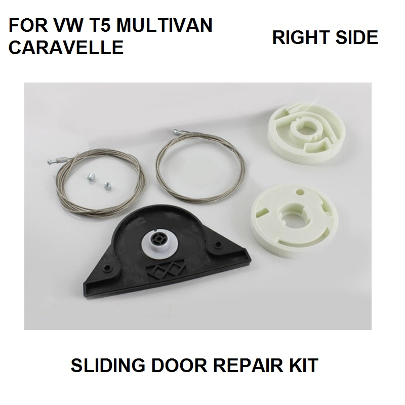 CAR STYLING FOR VW T5 MULTIVAN CARAVELLE ELECTRIC SLIDING DOOR REPAIR KIT RIGHT SIDE ONWARDS 2003 NEW